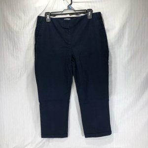 Chico's So Slimming Capri Dress Pants, Navy, 1.5